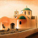 Santorini Church by Edward J. Laquale
