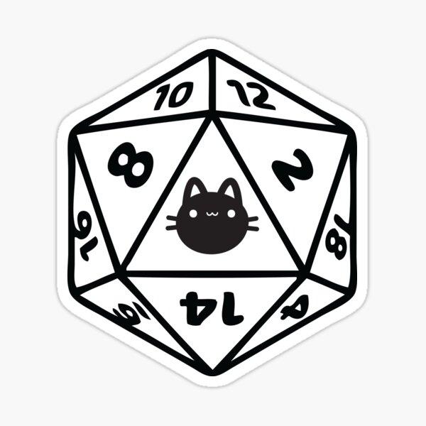 Cat D20 Dice DnD Sticker