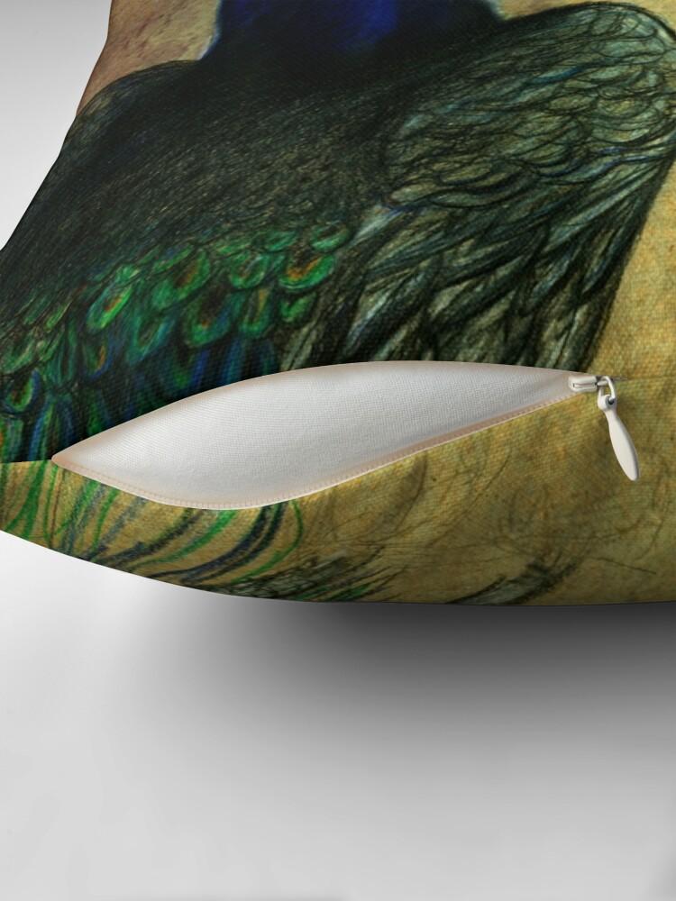 Alternative Ansicht von Peacock Painting by marthalaufej tinta-design.de Dekokissen