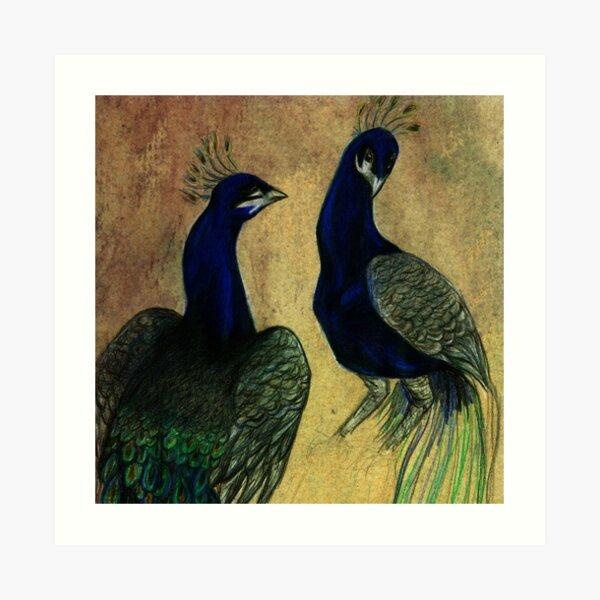 Peacock Painting by marthalaufej tinta-design.de Kunstdruck