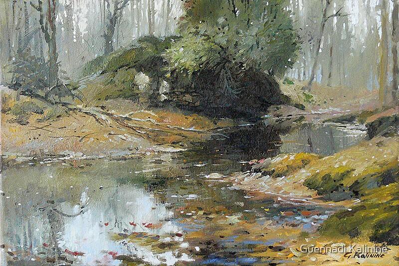 Pond by Guennadi Kalinine
