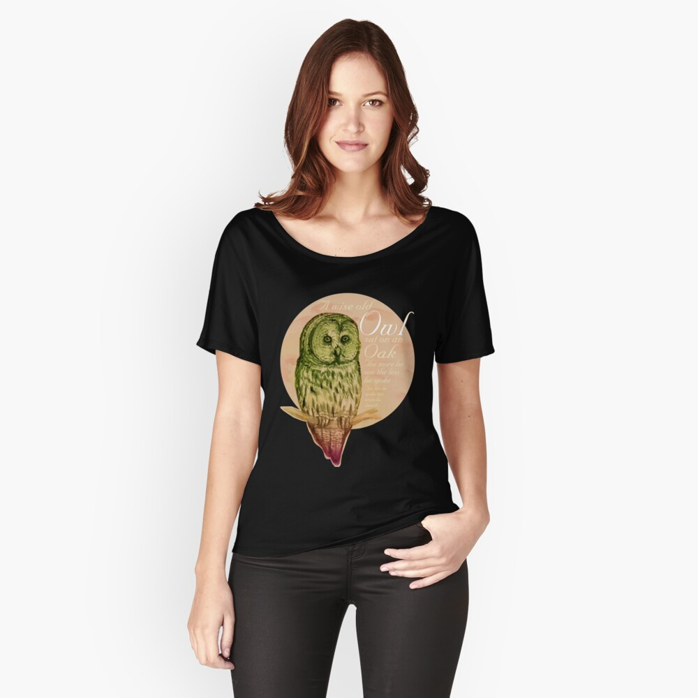 Wise Owl (by marthalaufej tintadesign) Loose Fit T-Shirt