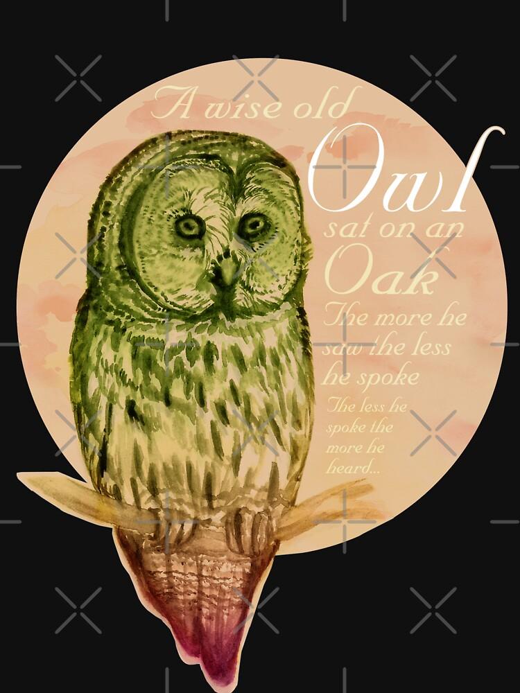 Wise Owl (by marthalaufej tintadesign) von TintaDesign