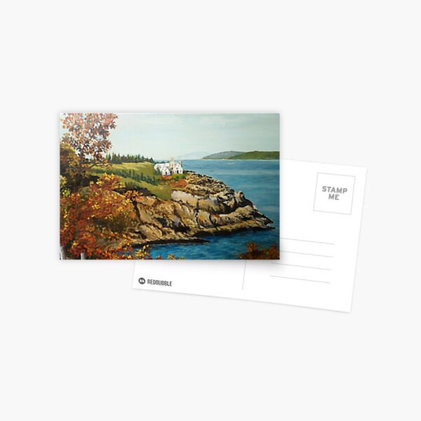 View from Acadia Park, Maine Postcard