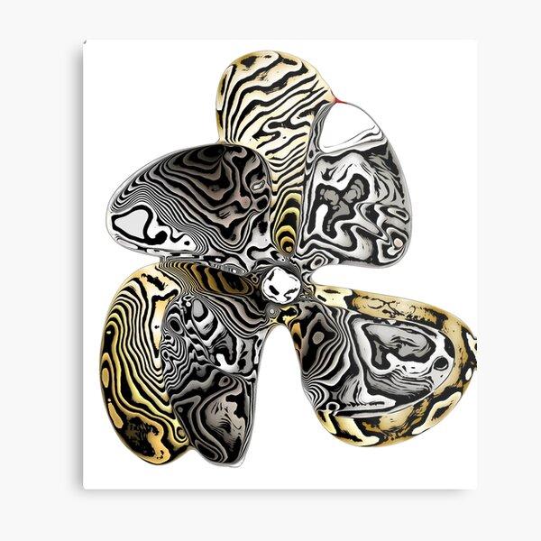 Zebra Prop Flower  Metal Print
