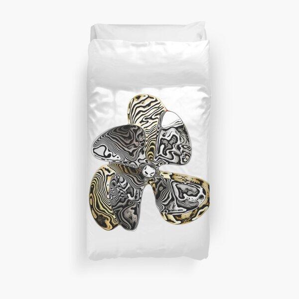 Zebra Prop Flower  Duvet Cover