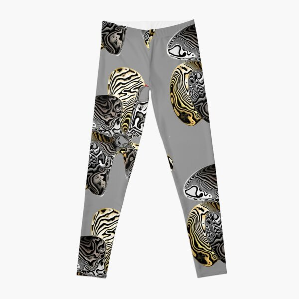 Zebra Prop Flower  Leggings
