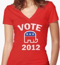 Retro Republican 2012 Shirt Women's Fitted V-Neck T-Shirt