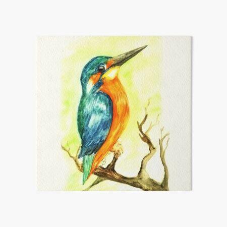 Eisvogel Watercolour Painting by marthalaufej tinta-design.de Galeriedruck