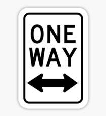 One Way Sign (Which Way?) Sticker