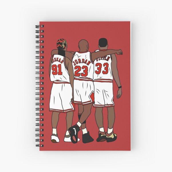 Rodman, MJ & Scottie Spiral Notebook