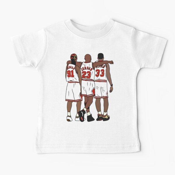 Rodman, MJ et Scottie T-shirt bébé