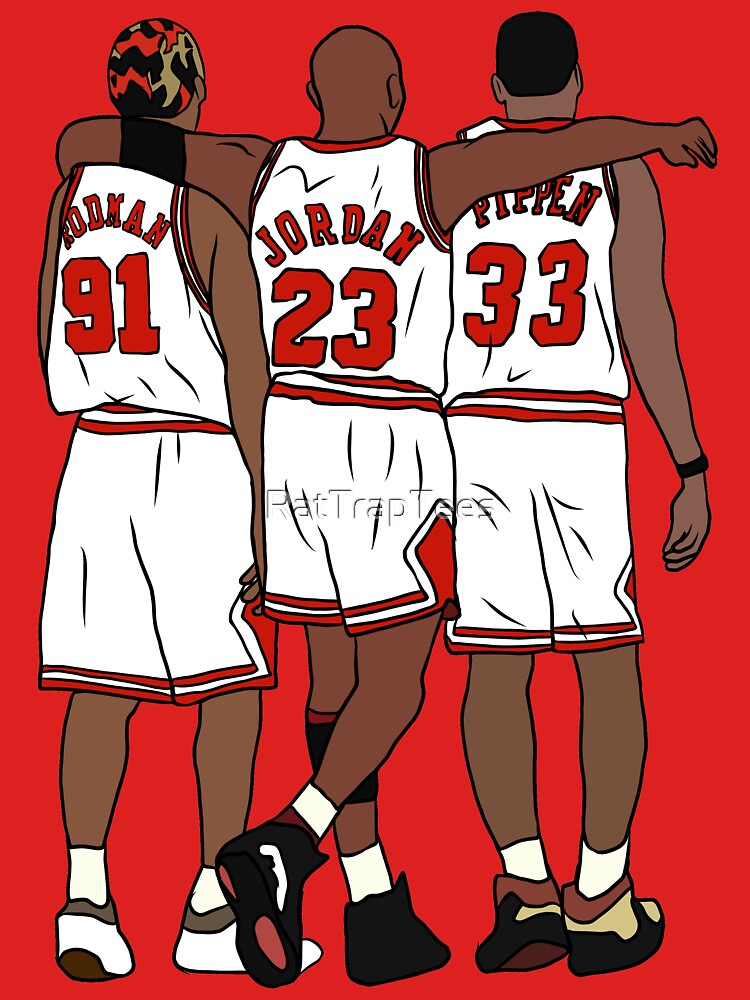 Rodman, MJ & Scottie by RatTrapTees