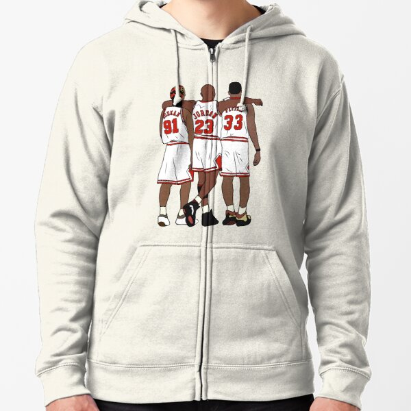Rodman, MJ & Scottie Zipped Hoodie
