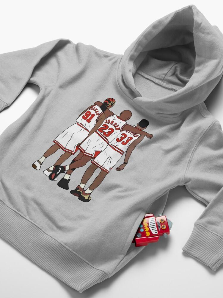 Alternate view of Rodman, MJ & Scottie Toddler Pullover Hoodie