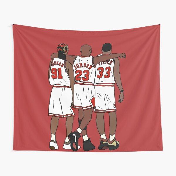 Rodman, MJ & Scottie Tapestry