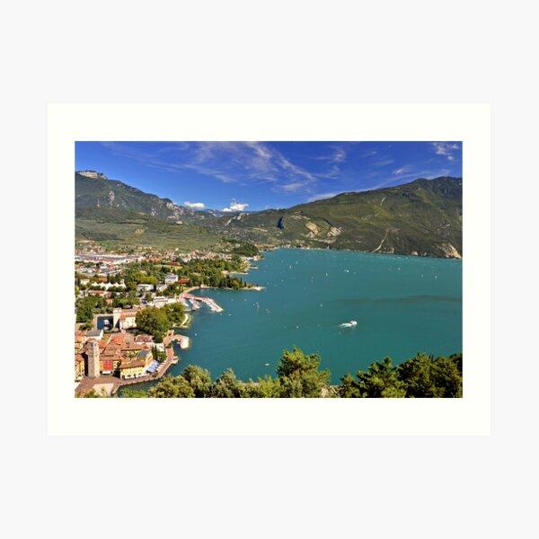 Vista sul Riva del Garda Art Print
