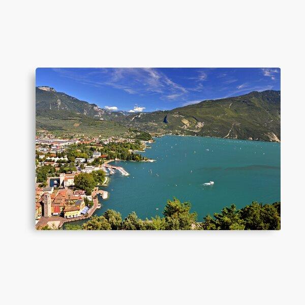 Vista sul Riva del Garda Canvas Print