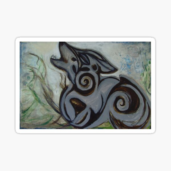 Troy's Wolf Sticker