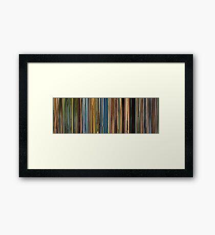 Moviebarcode: Primer (2004) Framed Print