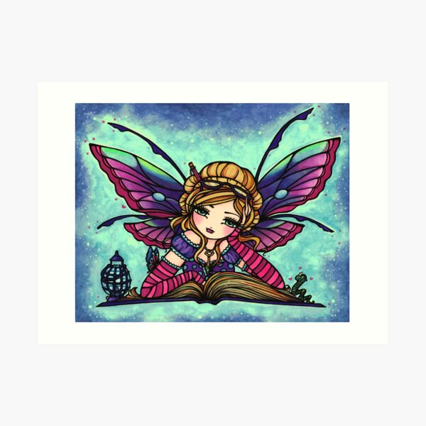 Bookworm Fairy by Hannah Lynn  Art Print