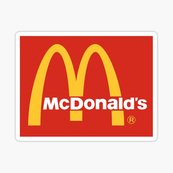 logotipo de mcdonalds Pegatina