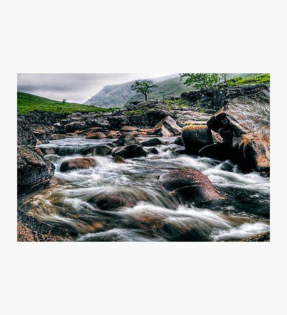 Rushing River, Glen Etive Photographic Print