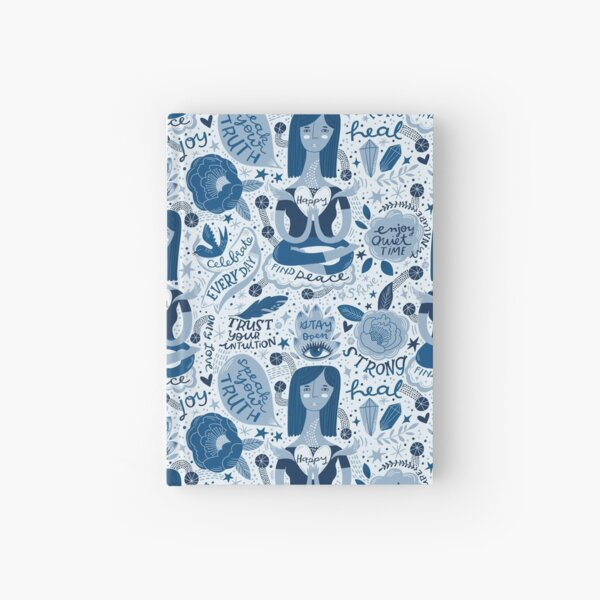 My Blue Mantras Hardcover Journal