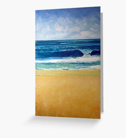 New swell (low tide bank) Greeting Card