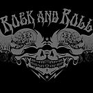Rock and Roll Anarchy Twin Engine Motorcycle Skulls  by rolandhill90