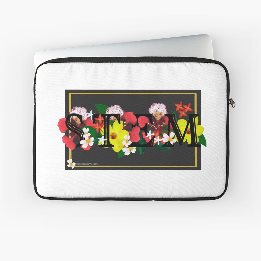 Flowers & STEM Laptop Sleeve