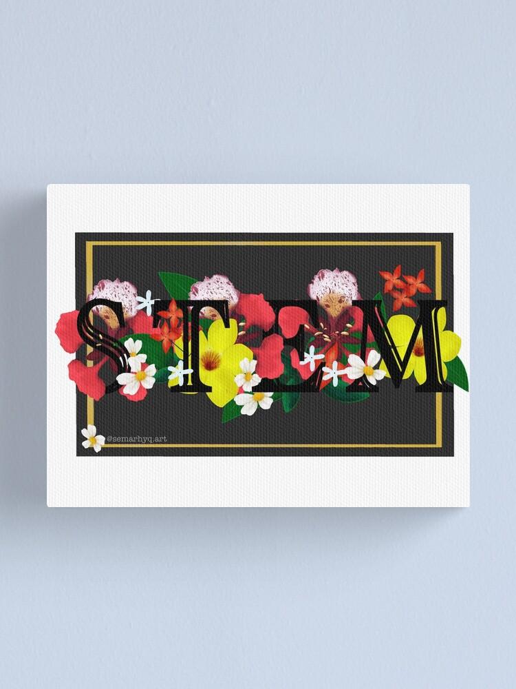 Alternate view of Flowers & STEM Canvas Print