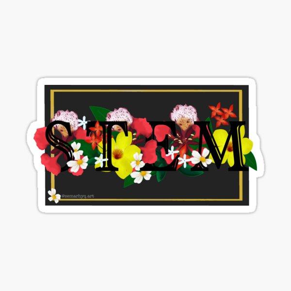 Flowers & STEM Sticker