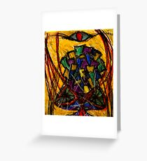 YIntrallion the encounterring (cup in the storm of the vortex of concept) Greeting Card