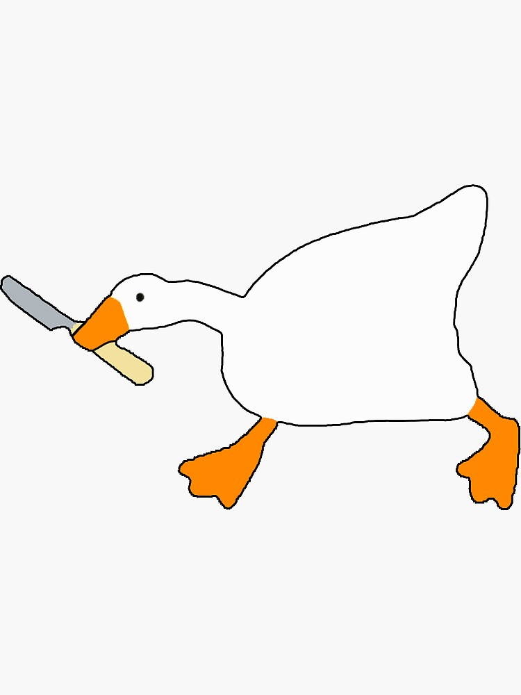 Goose with Knife - Untitled Goose Game by gsill