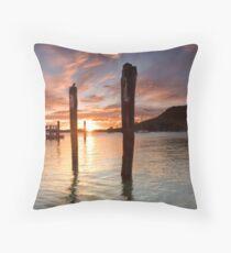 Salisbury Wharf Peach Dusk Throw Pillow