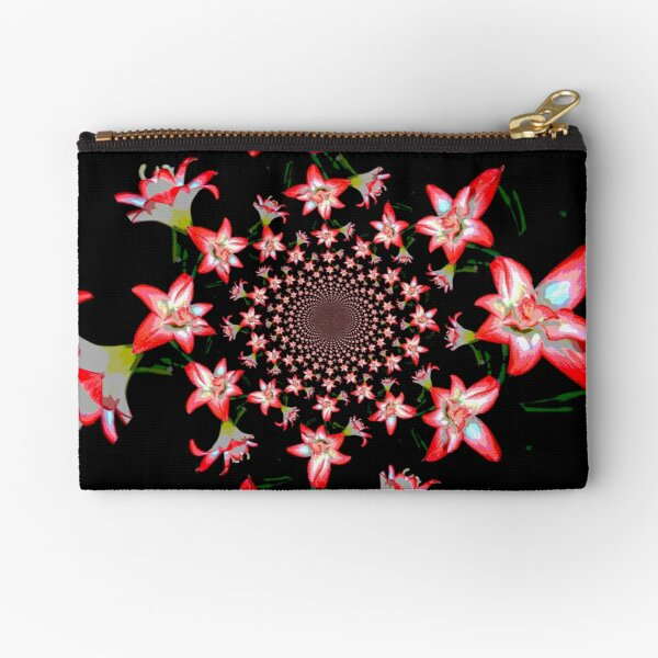 Lillies Forever Zipper Pouch