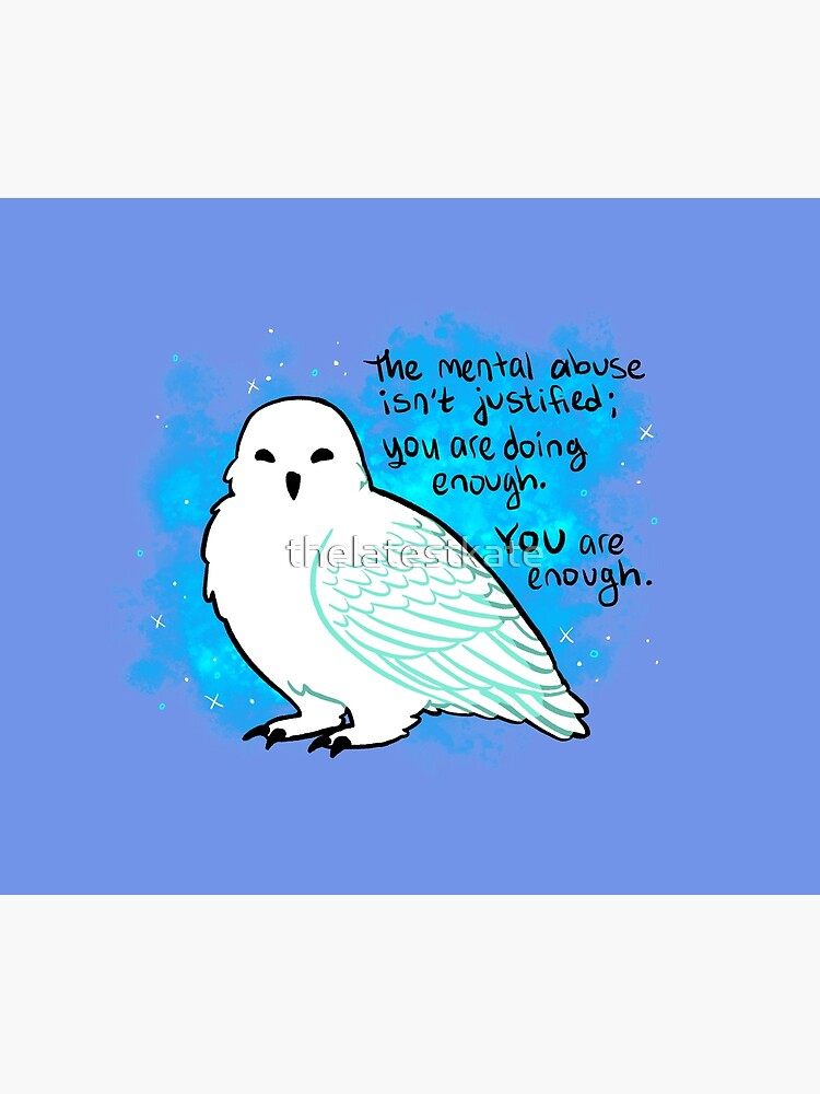 """""""You Are Enough"""" Snowy Owl by thelatestkate"""