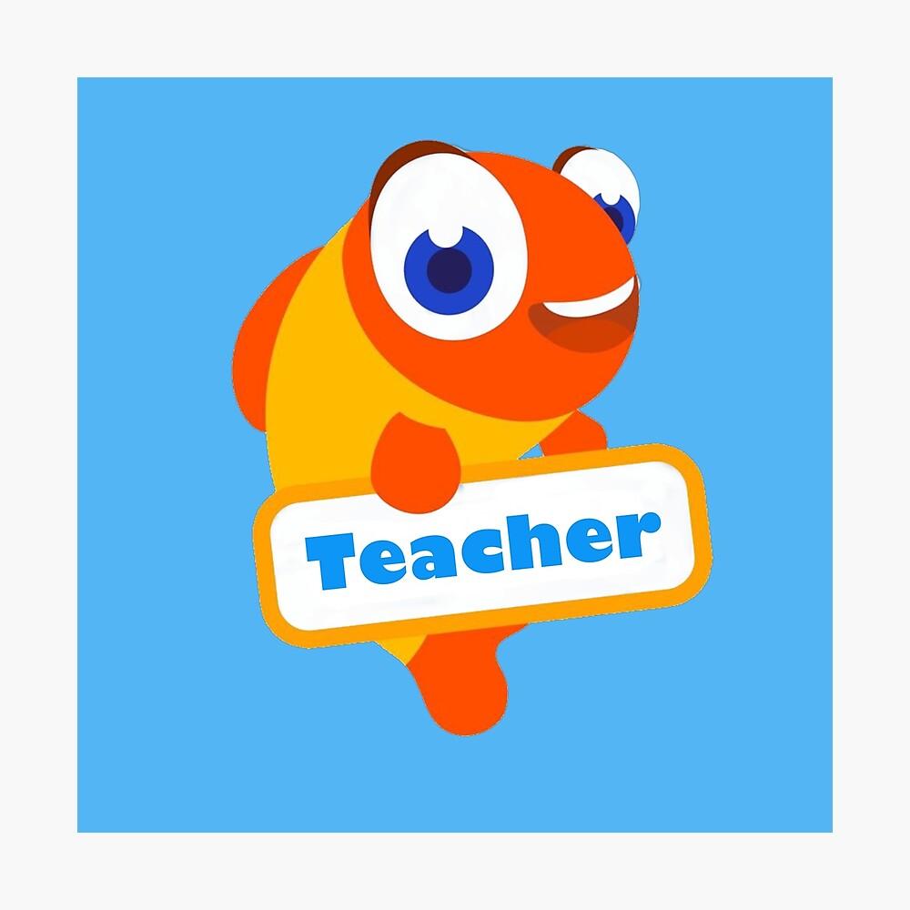"Palfish ESL English Teacher Logo Design! (Can Be Personalised!)"" Metal Print by bridieelliott | Redbubble"