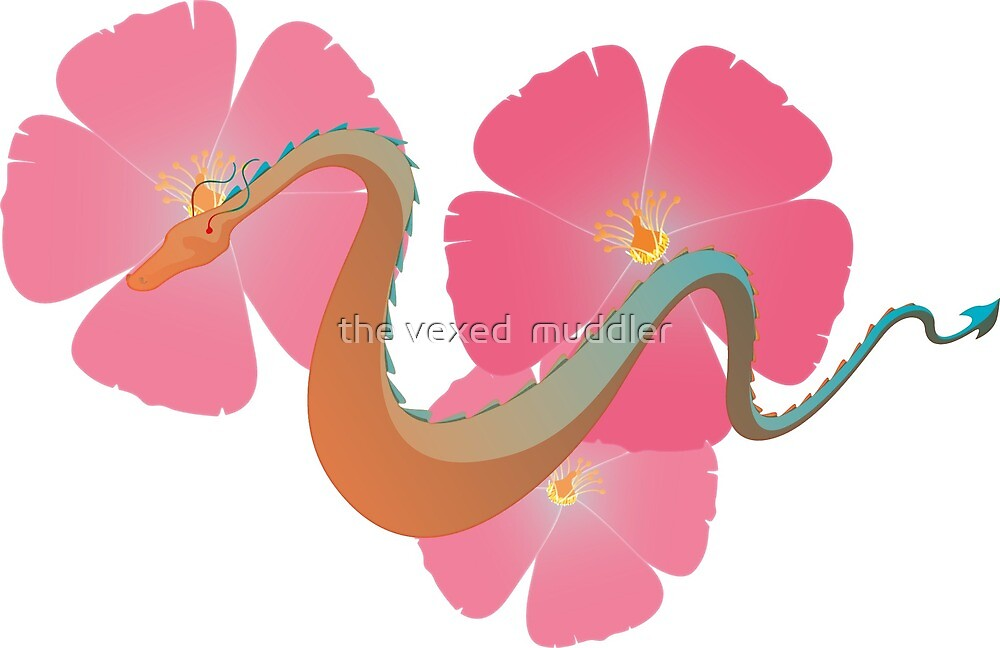 Floral Dragon by the vexed  muddler