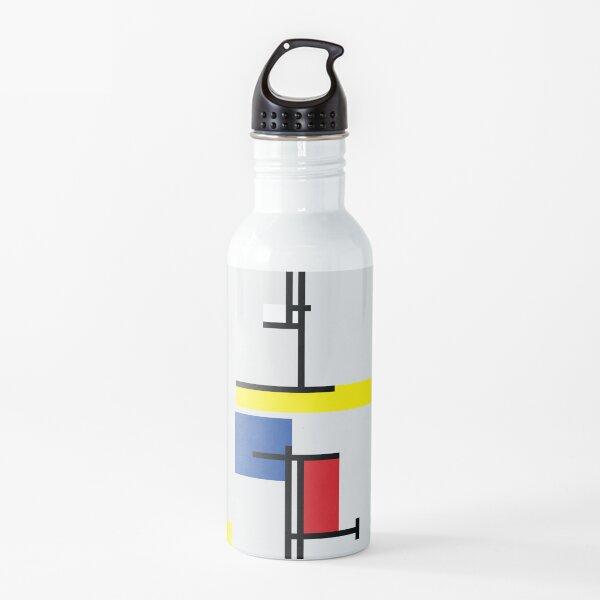 Mondrian Minimalist De Stijl Modern Art III © fatfatin Water Bottle