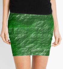 A Crumpled Green design for everything Mini Skirt