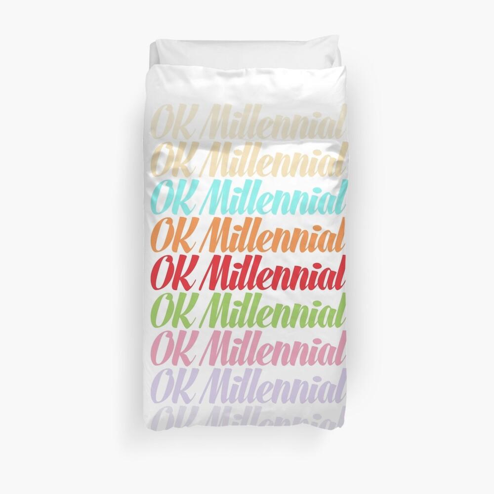 OK Millennial Duvet Cover