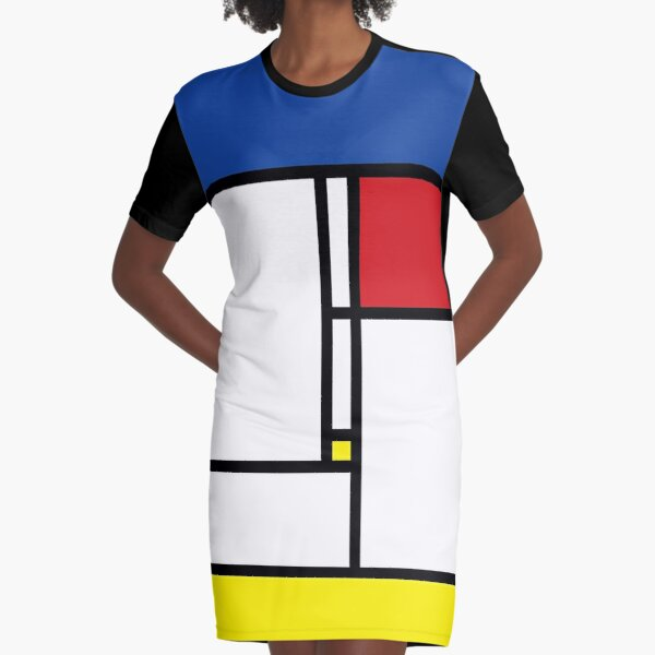 Mondrian Minimalist De Stijl Modern Art © fatfatin Graphic T-Shirt Dress
