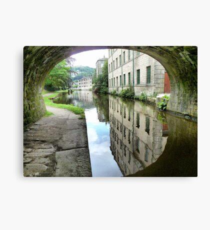 The Through view at Hebden Bridge. Canvas Print