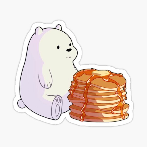 Polar Bear And Pancakes Sticker