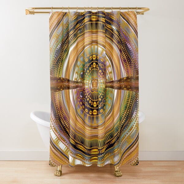 2nd Dimension Healing Code Shower Curtain