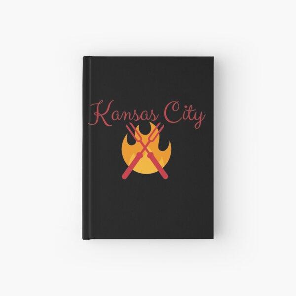 Kansas City BBQ Grill Shirt Sticker Hardcover Journal