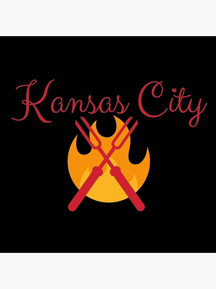 Kansas City BBQ Grill Shirt Sticker by rbaaronmattie