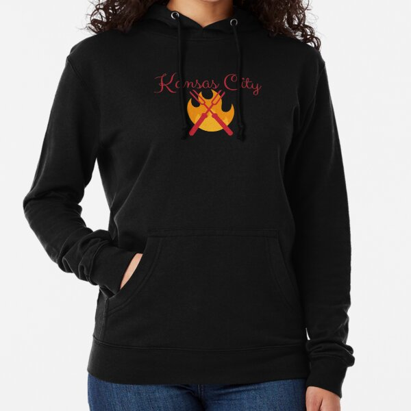 Kansas City BBQ Grill Shirt Sticker Lightweight Hoodie